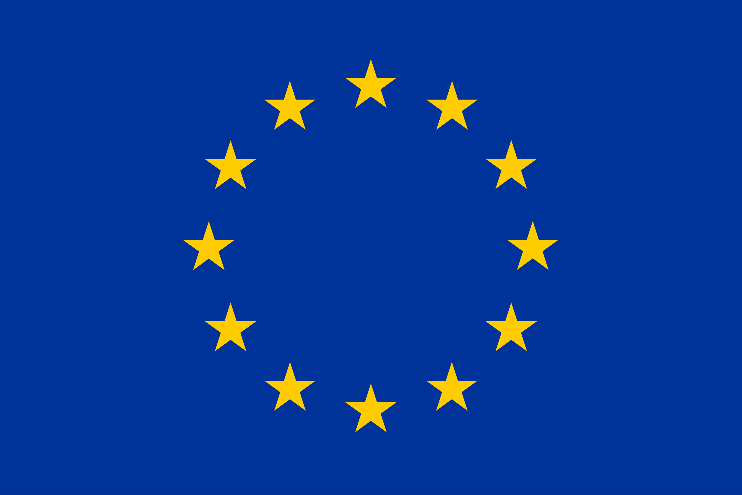 EU emblem flag yellow high